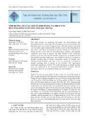 Ảnh hưởng của các yếu tố khí tượng và thủy văn đến tình hình nuôi tôm tỉnh Sóc Trăng