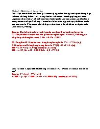 Bài tập phân tích thị trường chứng khoán
