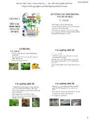 Cây ăn quả - Sự tương tác môi trường và cây ăn quả