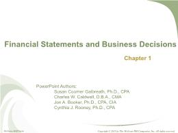 Kế toán, kiểm toán - Chapter 1: Financial statements and business decisions