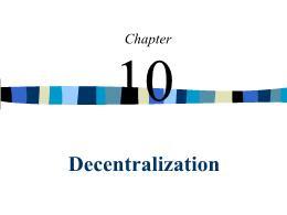 Kế toán, kiểm toán - Chapter 10: Decentralization