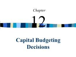 Kế toán, kiểm toán - Chapter 12: Capital budgeting decisions