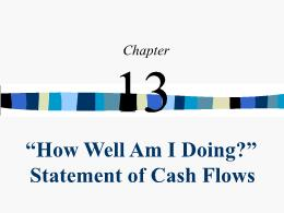 Kế toán, kiểm toán - Chapter 13: How well am i doing? Statement of cash flows