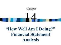Kế toán, kiểm toán - Chapter 14: How well am i doing? Financial statement analysis