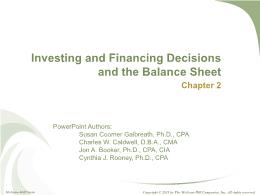 Kế toán, kiểm toán - Chapter 2: Investing and financing decisions and the balance sheet