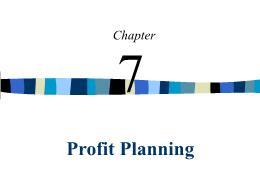 Kế toán, kiểm toán - Chapter 7: Profit planning