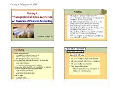 Kế toán, kiểm toán - Chương 1: Tổng quan về kế toán tài chính