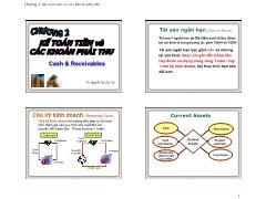 Kế toán, kiểm toán - Chương 2: Kế toán tiền và các khoản phải thu