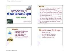 Kế toán, kiểm toán - Chương 4: Kế toán tài sản cố định