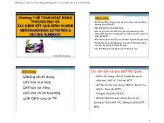 Kế toán, kiểm toán - Chương 7: Kế toán hoạt động thương mại và xác định kết quả kinh doanh