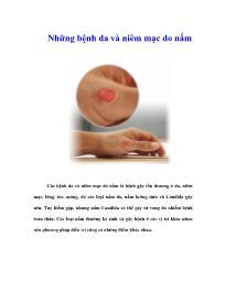 Những bệnh da và niêm mạc do nấm