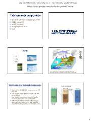 Nông nghiệp - Tuần hoàn nước trong tự nhiên