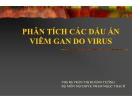 Phân tích các dấu ấn viêm gan do virus