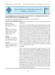 So sánh hiệu quả sản xuất giữa nuôi tôm sú và tôm thẻ chân trắng luân canh với lúa ở tỉnh Kiên Giang