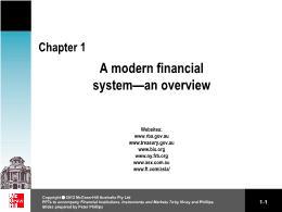 Tài chính doanh nghiệp - Chapter 1: A modern financial system an overview