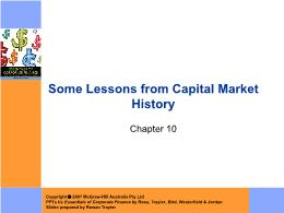 Tài chính doanh nghiệp - Chapter 10: Some lessons from capital market history