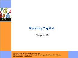 Tài chính doanh nghiệp - Chapter 15: Raising capital