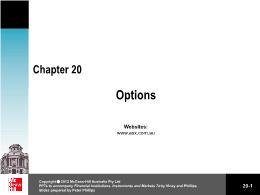 Tài chính doanh nghiệp - Chapter 20: Options