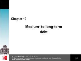 Tài chính kế toán - Chapter 10: Medium - To long - term debt