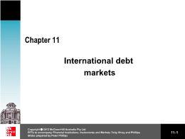 Tài chính kế toán - Chapter 11: International debt markets