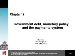 Tài chính kế toán - Chapter 12: Government debt, monetary policy and the payments system