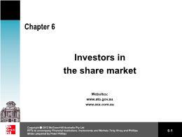 Tài chính kế toán - Chapter 6: Investors in the share market