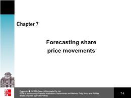 Tài chính kế toán - Chapter 7: Forecasting share price movements