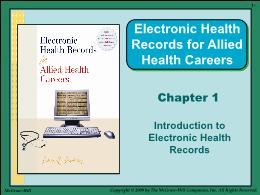 Y khoa, y dược - Chapter 1: Introduction to electronic health records