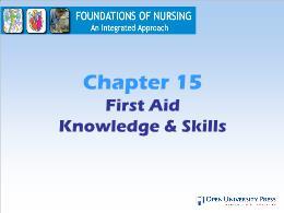 Y khoa, y dược - Chapter 15: First aid knowledge & skills