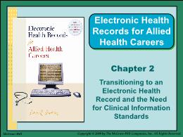 Y khoa, y dược - Chapter 2: Transitioning to an electronic health record and the need for clinical information standards