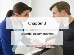Y khoa, y dược - Chapter 3: Essential documentation