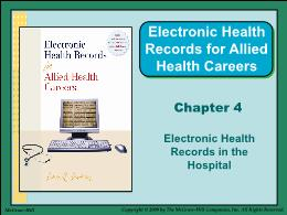 Y khoa, y dược - Chapter 4: Electronic health records in the hospital