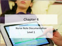 Y khoa, y dược - Chapter 4: Nurse note documentation