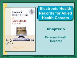 Y khoa, y dược - Chapter 5: Personal health records