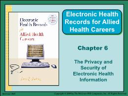 Y khoa, y dược - Chapter 6: The privacy and security of electronic health information