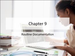 Y khoa, y dược - Chapter 9: Routine documentation