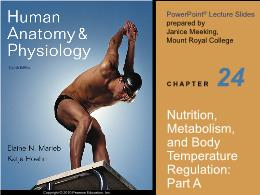 Y khoa, y dược - Nutrition, metabolism, and body temperature regulation: Part A