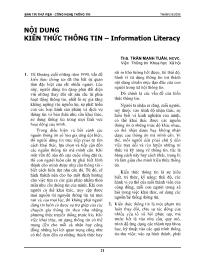 Nội dung kiến thức thông tin