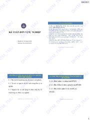 Bài giảng Kế toán đơn vị sự nghiệp - ĐHTM
