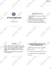 Bài giảng Kế toán ngân hàng - ĐHTM