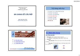 Bài giảng Kết cấu thép - Chương 4: Dầm thép - Hồng Tiến Thắng