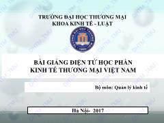 Bài giảng Kinh tế thương mại Việt Nam