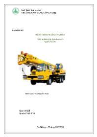 Bài giảng Máy và thiết bị thi công công trình - Nguyễn Hoài
