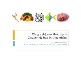 Công nghệ sau thu hoạch (Chuyên đề bao bì thực phẩm) - Lương Hồng Quang