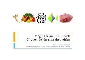Công nghệ sau thu hoạch (Chuyên đề lên men thực phẩm) - Lương Hồng Quang