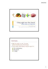 Công nghệ sau thu hoạch (Phần nông sản dạng hạt) - Lương Hồng Quang