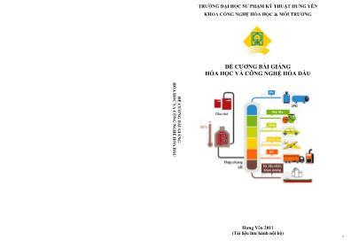 Đề cương bài giảng Hóa học và công nghệ hóa dầu