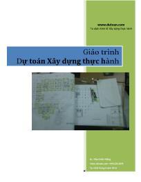 Giáo trình Dự toán Xây dựng thực hành