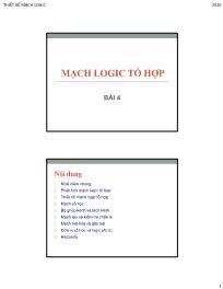 Thiết kế mạch Logic - Bài 4: Mạch Logic tổ hợp