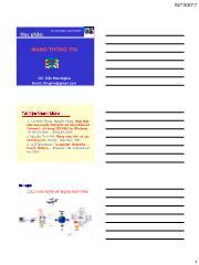 Bài giảng Mạng thông tin - Chương 1: Các khái niệm về mạng máy tính - Trần Hữu Nghĩa
